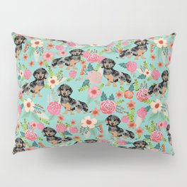 Dachshund dapple coat dog breed floral pattern must have doxie gifts dachsies Pillow Sham