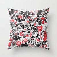 western Throw Pillows featuring Western Pattern by lanewera