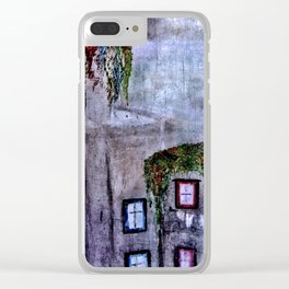 Houses in Milan in the evening Italy Clear iPhone Case
