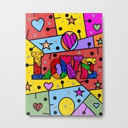 Love Popart by Nico Bielow Metal Print