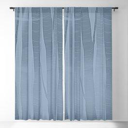 Woodland -  Minimal Blue Birch Forest Blackout Curtain
