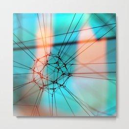 String Art Square Metal Print