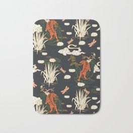 Asian tigers illustration pattern Bath Mat