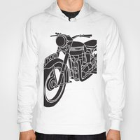 motorcycle Hoodies featuring Motorcycle by Gemma Bullen Design