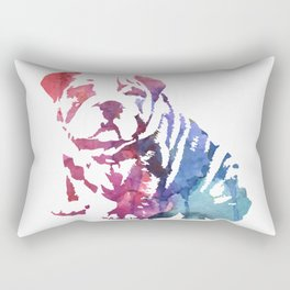 Dog paint Rectangular Pillow