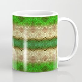paisley ribbon in forest green Coffee Mug