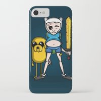finn and jake iPhone & iPod Cases featuring Finn & Jake by mebz art