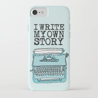write iPhone & iPod Cases featuring I Write  by Kendra Amy Allen