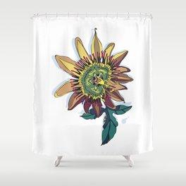 Passiflora edulis dark Shower Curtain