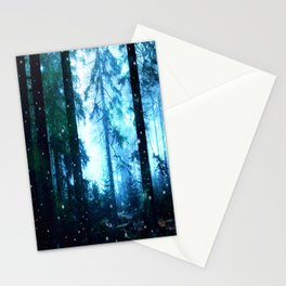 Fireflies Night Forest Stationery Cards