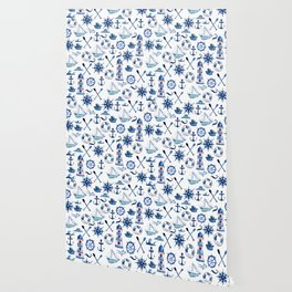 Nautical Watercolor Wallpaper