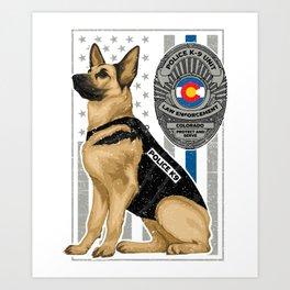 K9 Unit Flag COLORADO copy Art Print