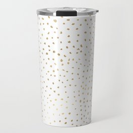 Dotted Gold Travel Mug