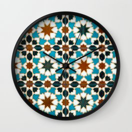 Moorish tiles Wall Clock