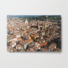 Aerial panoramic view of Florence Metal Print