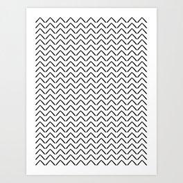 ZIGZAG ARROWS Art Print