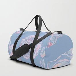 Abstract Flowers Blue #society6 #buyart Duffle Bag