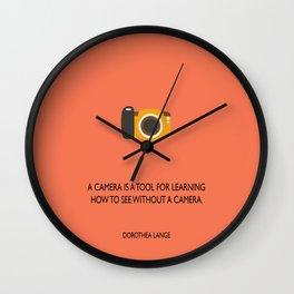 A camera Wall Clock