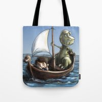 voyage Tote Bags featuring Voyage by Allan McInnes