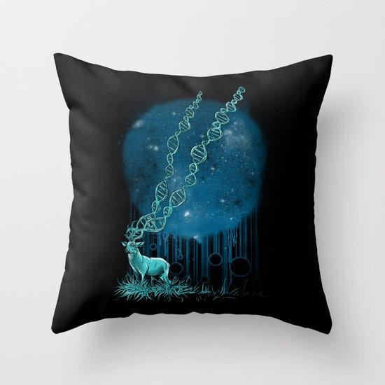 DNA Deer Throw Pillow