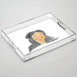 Girl Acrylic Tray