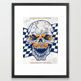 Death Valley Racers (Navy Orange) Framed Art Print