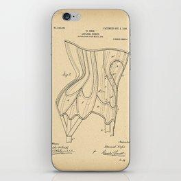 1906 Patent Corset iPhone Skin