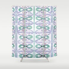 Loops all over Shower Curtain