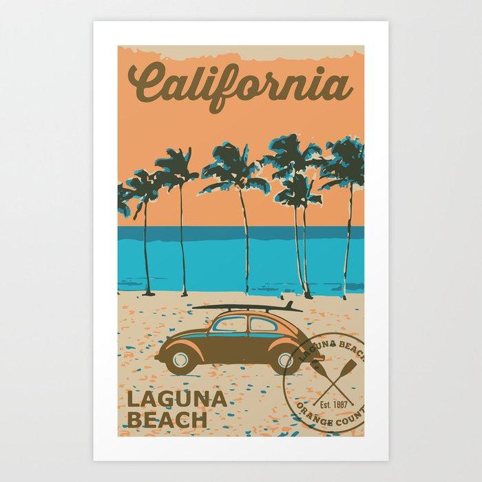 Laguna Beach California. Art Print