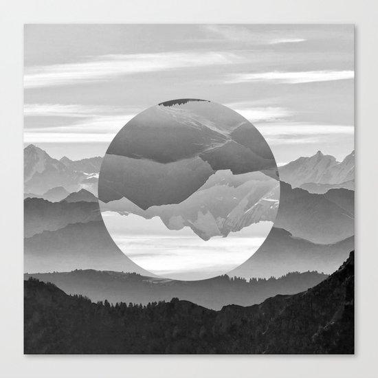 Geo Nature Mountains Canvas Print
