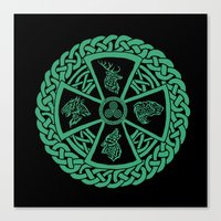 celtic Canvas Prints featuring Celtic Nature by Astrablink7