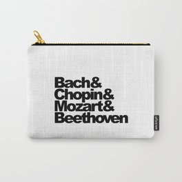 Bach and Chopin and Mozart and Beethoven, sticker, circle, white Carry-All Pouch