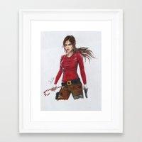 megan lara Framed Art Prints featuring Lara by AmileeKae