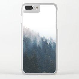 Misty Tillamook Woods Clear iPhone Case