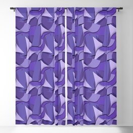 Ultra Violet Abstract Waves Blackout Curtain