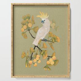 Cockatoo and Ginkgo Tree Serving Tray
