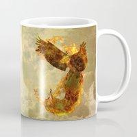 phoenix Mugs featuring Phoenix by Barruf