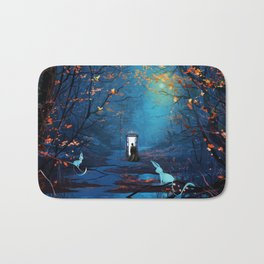 Tardis And The Doctor Lost In The Forest Bath Mat