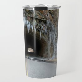 Icy Tunnel Pass If You Dare Travel Mug