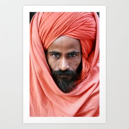 Portrait of a Swami , India Art Print