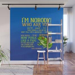 Emily Dickinson I'm Nobody Poem Wall Mural