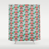 monkey Shower Curtains featuring Monkey by Jonny Bateau