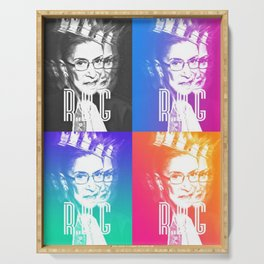 Notorious RBG Supreme Court Feminist Serving Tray