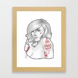 Skateboarding Girl #2 Framed Art Print