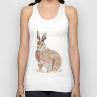 hare Tank Tops featuring HARE  by Joelle Poulos
