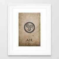 avatar the last airbender Framed Art Prints featuring Avatar Last Airbender - Air by bdubzgear