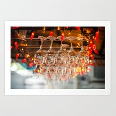 A glass or two Art Print