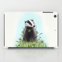 badger iPad Cases featuring Daisy's Badger by James McKenzie