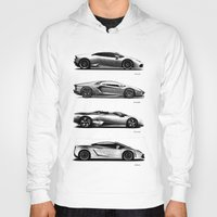 lamborghini Hoodies featuring The Lamborghini Collection by Mark Rogan