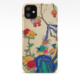 Minhwa: Birds and Peony  iPhone Case